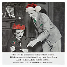 Buy Card Mix Woman and Man Reading Christmas Card Online at johnlewis.com