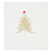 Buy Caroline Gardner Gold Christmas Tree Card Online at johnlewis.com