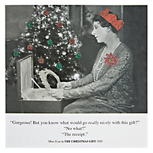 Buy Card Mix Woman Holding Tiara Christmas Card Online at johnlewis.com