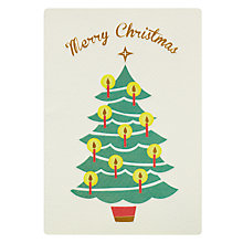 Buy James Ellis Stevens Christmas Tree Retro Christmas Card Online at johnlewis.com