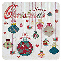 Buy Laura Darrington Merry Christmas Baubles Christmas Card Online at johnlewis.com