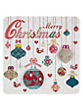 Laura Darrington Merry Christmas Baubles Christmas Card