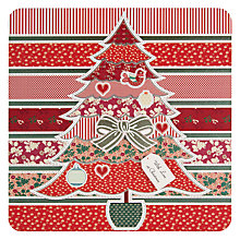 Buy Laura Darrington Christmas Patterned Tree Christmas Card Online at johnlewis.com