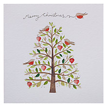 Buy Paper Rose Robin in Tree Christmas Card Online at johnlewis.com