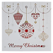 Buy Paper Rose Laser Cut Baubles Christmas Card Online at johnlewis.com