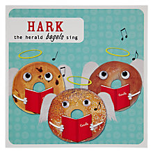 Buy Paperlink Bagels Singing Christmas Card Online at johnlewis.com