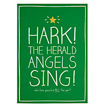 Buy Pigment Hark! The Herald Angel Sing Christmas Card Online at johnlewis.com