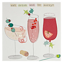 Buy Belly Button Designs Eat Drink & Be Merry Christmas Card Online at johnlewis.com