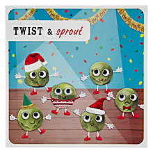 Buy Paperlink Twist And Sprout Christmas Card Online at johnlewis.com