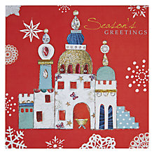 Buy Hammond Gower Seasons Greeting Bethlehem on Red Christmas Card Online at johnlewis.com