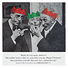 Buy Card Mix Two Men Pinching Another Man's Mouth Christmas Card Online at johnlewis.com