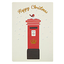 Buy James Ellis Stevens Postbox Retro Christmas Card Online at johnlewis.com