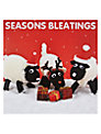 Mint Knitted Sheep Christmas Card