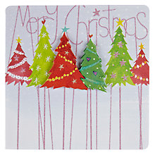 Buy Mint Decoupage Christmas Tree Christmas Card Online at johnlewis.com