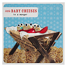 Buy Paperlink Baby Cheeses in a Manger Christmas Card Online at johnlewis.com