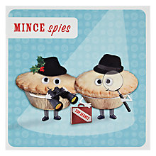 Buy Paperlink Mince Spies Christmas Card Online at johnlewis.com