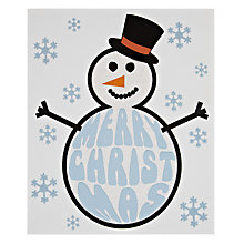 Buy Portfolio Frosty Snowman Christmas Card Online at johnlewis.com