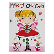 Buy Rachel Ellen Designs Festive Fairy Christmas Card Online at johnlewis.com