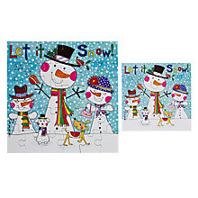 Buy Rachel Ellen Designs Snowmen Christmas Card Online at johnlewis.com