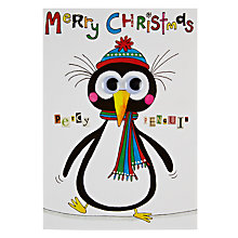 Buy Rachel Ellen Designs Percy Penguin Christmas Card Online at johnlewis.com