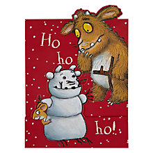 Buy Woodmansterne Gruffalo's Child And Snowman Christmas Card Online at johnlewis.com