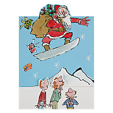 Buy Woodmansterne Snow Boarding Santa Christmas Card Online at johnlewis.com