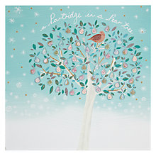 Buy Woodmansterne Pear Tree With Partridge Christmas Card Online at johnlewis.com