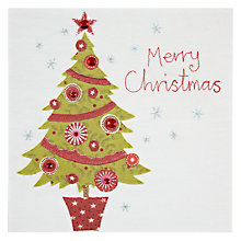 Buy Blue Eyed Sun Merry Christmas Tree Christmas Card Online at johnlewis.com
