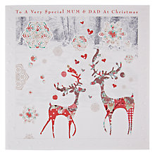 Buy Card Mix To Mum And Dad Reindeer in Wood Christmas Card Online at johnlewis.com
