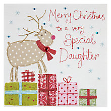 Buy Blue Eyed Sun Special Daughter Reindeer Christmas Card Online at johnlewis.com