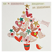 Buy Belly Button Designs Wonderful Daughter Christmas Card Online at johnlewis.com