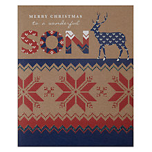 Buy Art File Merry Christmas Son Card Online at johnlewis.com