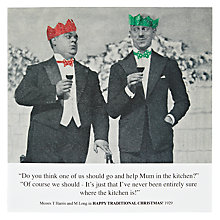 Buy Card Mix Two Men With Drinks Trolley Christmas Card Online at johnlewis.com