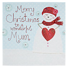 Buy Blue Eyed Sun Wonderful Mum Snowman Christmas Card Online at johnlewis.com