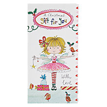 Buy Rachel Ellen Designs Fairy Girl Christmas Card Online at johnlewis.com