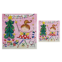 Buy Rachel Ellen Designs Christmas Wish Ballet Girl Christmas Card Online at johnlewis.com