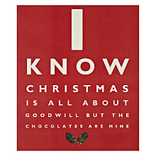 Buy Portfolio Goodwill and Chocolates Christmas Card Online at johnlewis.com
