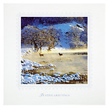 Buy Woodmansterne Strathconon Landscape Christmas Card Online at johnlewis.com