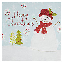 Buy Blue Eyed Sun Happy Christmas Snowman Card Online at johnlewis.com