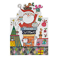 Buy Rachel Ellen Designs Santa in Chimney Christmas Card Online at johnlewis.com