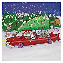 Buy Woodmansterne Dogs in Car Christmas Card Online at johnlewis.com