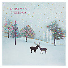 Buy Woodmansterne Deers in Magical Forest Christmas Card Online at johnlewis.com
