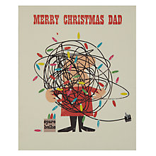 Buy Art File Merry Christmas Dad Christmas Card Online at johnlewis.com