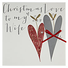 Buy Belly Button Designs Christmas Love to my Wife Christmas Card Online at johnlewis.com