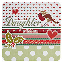 Buy Laura Darrington Beautiful Daughter Christmas Card Online at johnlewis.com