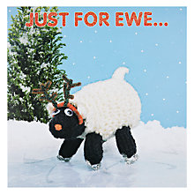 Buy Mint Just For Ewe Knitted Sheep Christmas Card Online at johnlewis.com