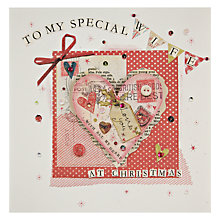 Buy Mint Special Wife Decoupage Knitted Heart Christmas Card Online at johnlewis.com