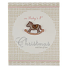 Buy Metropolis World Wide Baby's First Christmas Card Online at johnlewis.com