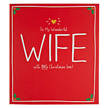 Buy Pigment Wonderful Wife Christmas Card Online at johnlewis.com