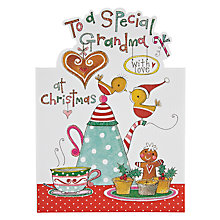Buy Rachel Ellen Designs Special Grandma Tea and Mince Pies Christmas Card Online at johnlewis.com